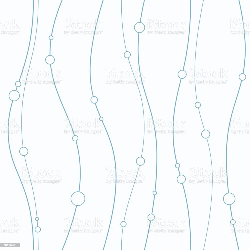 Seamless pattern with smooth lines and circles vector art illustration