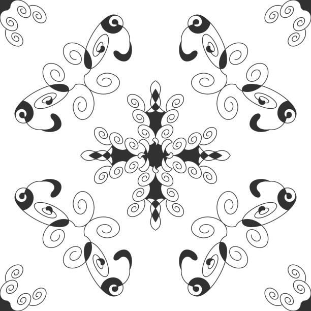 Motif sans couture avec spirales. Mandala. - Illustration vectorielle