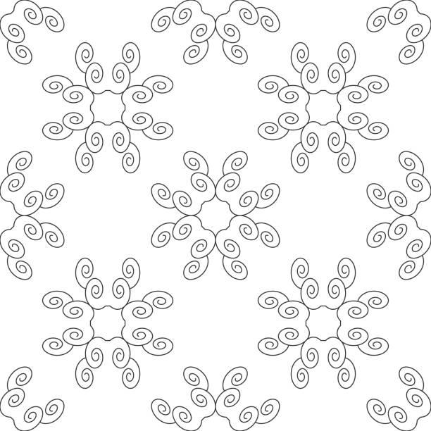 Motif sans couture avec spirales. - Illustration vectorielle