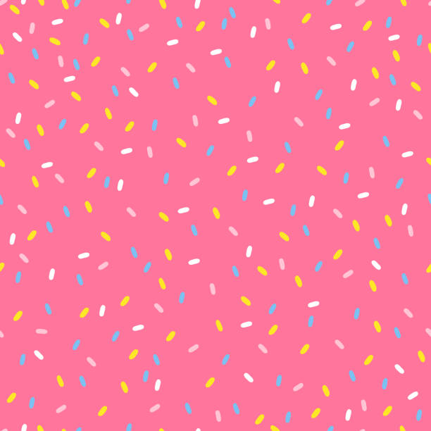Seamless pattern with sprinkles topping in pastel colors Seamless pattern with sprinkles topping in pastel colors. Perfect for wallpaper, gift paper and summer greetings. birthday designs stock illustrations
