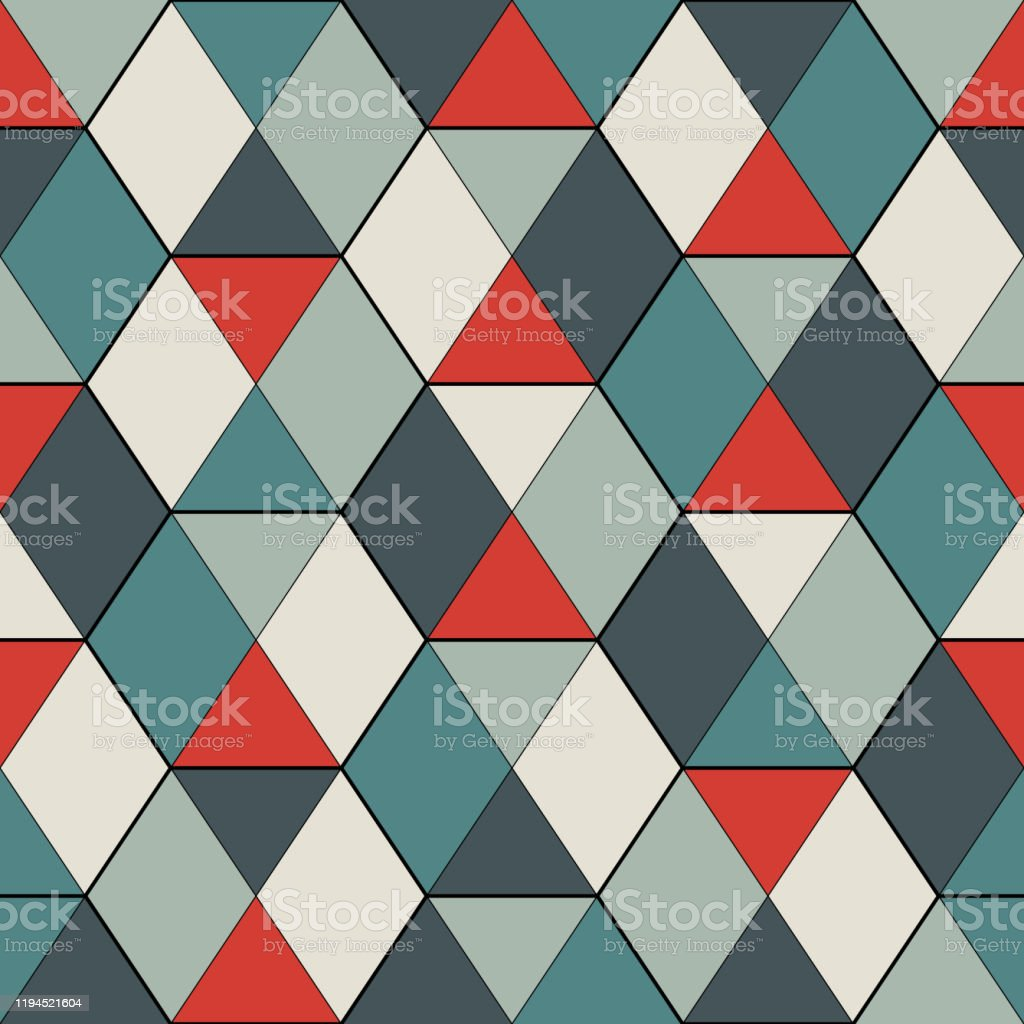 Image of: Seamless Pattern With Stained Glass Mosaic Contemporary Print With Repeated Triangles Modern Geometric Background Stock Illustration Download Image Now Istock