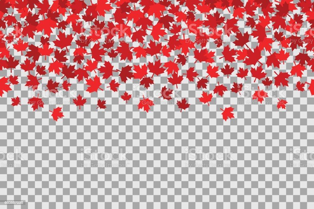 Nahtlose Muster mit Sternen für 1. Juli Feier auf transparenten Hintergrund. Canada Day – Vektorgrafik