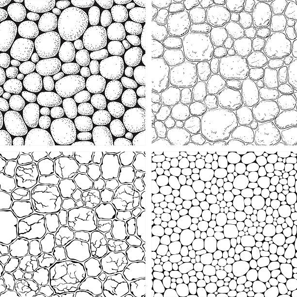 Seamless pattern with stones vector art illustration