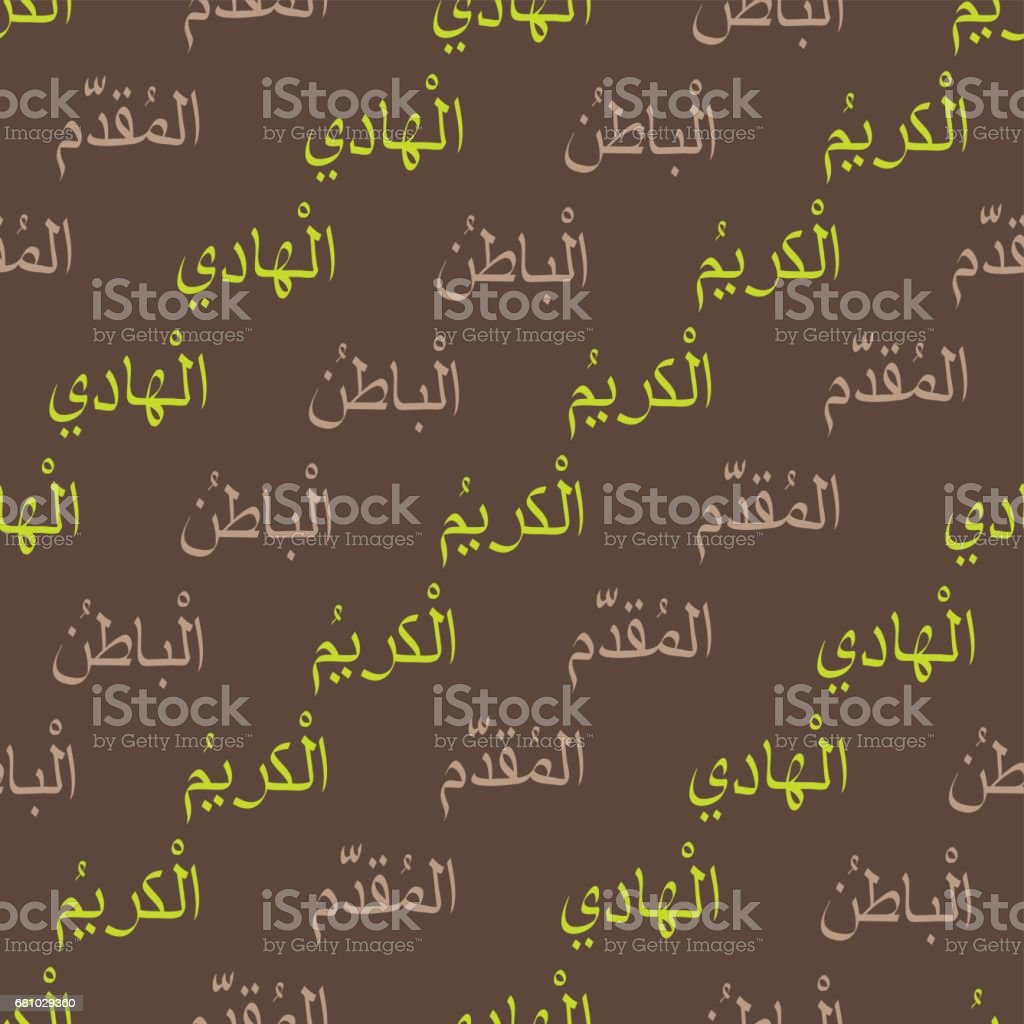 Seamless pattern with symbols of names of god in islam royalty-free seamless pattern with symbols of names of god in islam stock vector art & more images of allah