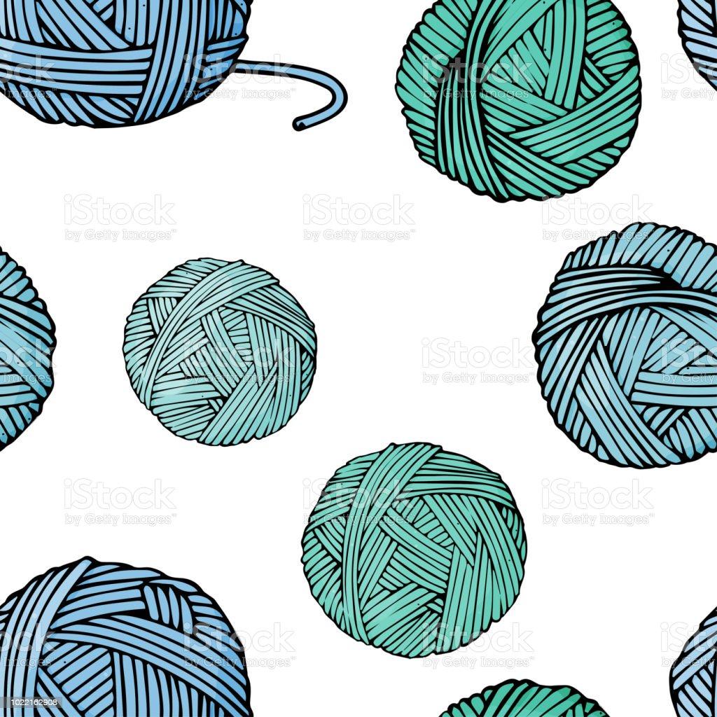 Ilustración de Patrón Transparente Con Nudos De Diferentes Colores ...