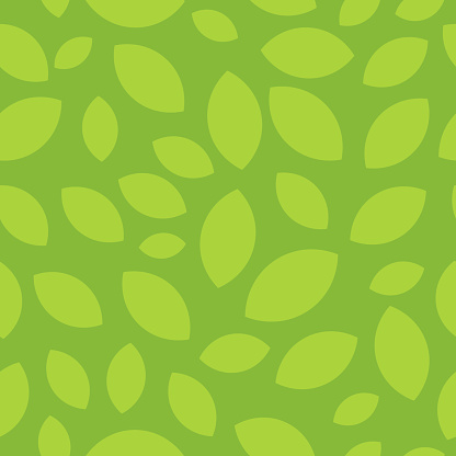 Seamless pattern with tea leaves - Beautiful soft background for website, cafe or textile