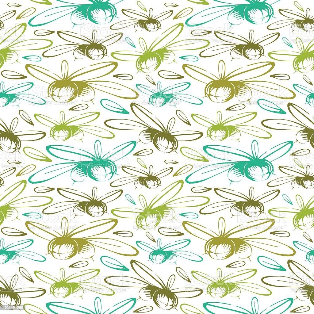 Seamless pattern with the image of olives seamless pattern with the image of olives – cliparts vectoriels et plus d'images de aliment libre de droits