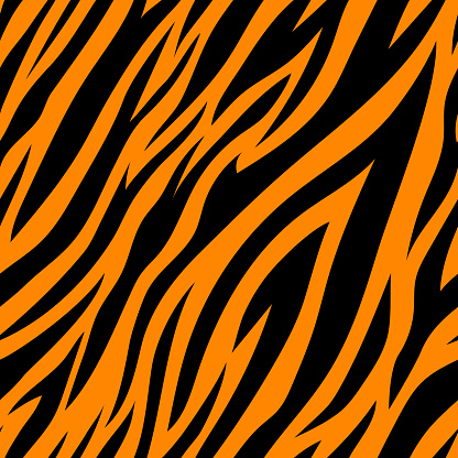 Seamless pattern with tiger stripes.