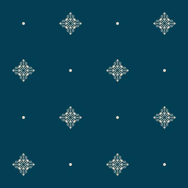 nahtlose muster mit winzigen knoten zeichen und perlen. vektor-illustration. - perlenweben stock-grafiken, -clipart, -cartoons und -symbole