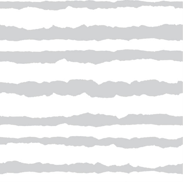 seamless pattern with torn paper horizontal lines. light gray and white stripes. striped shred edge background. - at the edge of stock illustrations