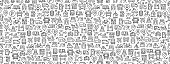 Seamless Pattern with Transportation Icons