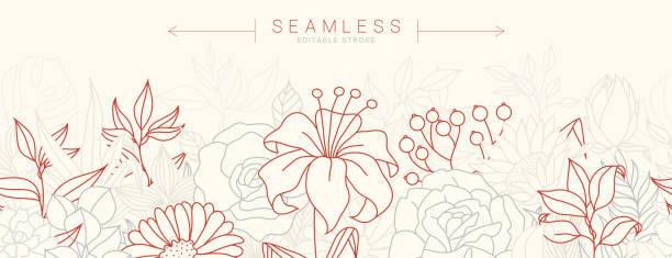 stockillustraties, clipart, cartoons en iconen met naadloze patroon met tulpen voorraad illustratie - breekbaarheid