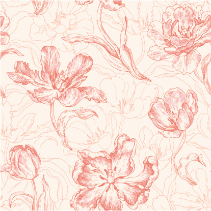 Wallpaper with tulips