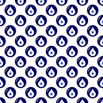 Seamless Pattern With Turkish Evil Eye Bead Good Luck