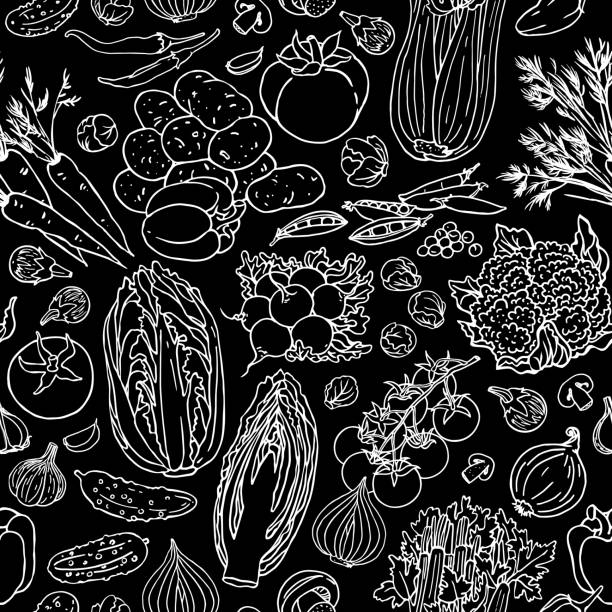 seamless pattern with vegetable. - cherry tomato stock illustrations