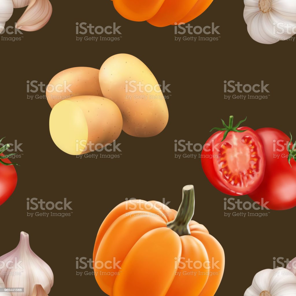 Seamless pattern with vegetables royalty-free seamless pattern with vegetables stock vector art & more images of agriculture