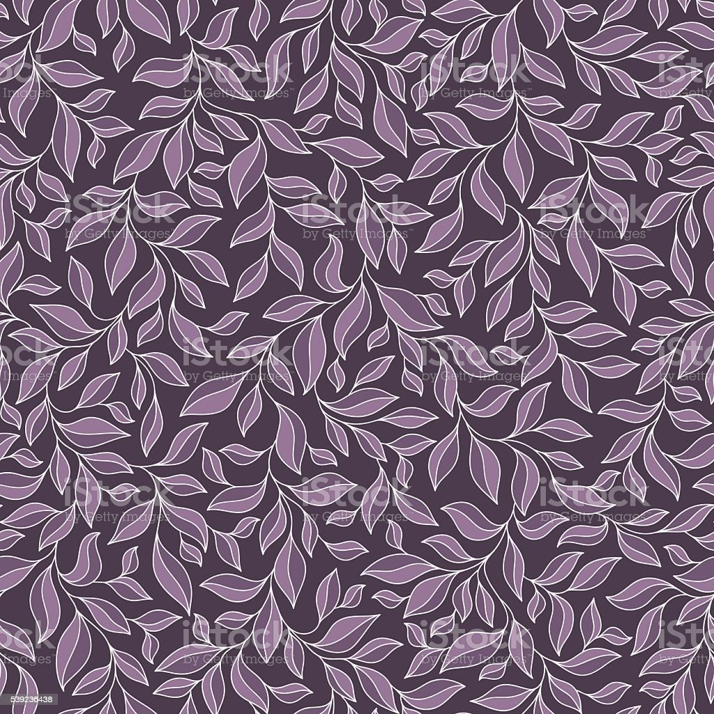 Seamless pattern with violet and pink leaves on dark background. royalty-free seamless pattern with violet and pink leaves on dark background stock vector art & more images of abstract