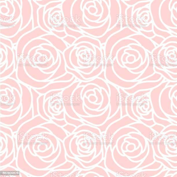 Seamless pattern with white outline roses on pink background vector vector id857809826?b=1&k=6&m=857809826&s=612x612&h=kqmgs4i1yf82gpkput5hhfirgtt27lxnbpibrbat9 4=