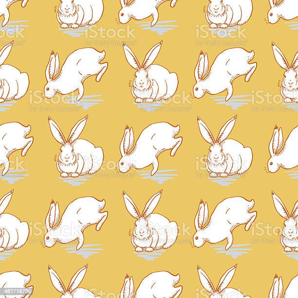 Seamless pattern with white rabbit on a yellow background vector id481716736?b=1&k=6&m=481716736&s=612x612&h=9 w6ymaiorhsc3f u7 kov0hnjadzmhhqt 4skca6ga=