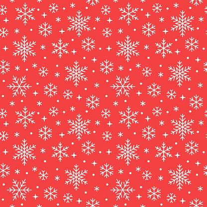 Ilustración de Patrón Sin Fisuras Con Los Copos De Nieve Blancas Sobre Fondo Rojo Los Iconos Nevando De Línea Plana Copos De Nieve Lindo Repetición Fondo De Pantalla Buen Elemento Para Banner De Navidad Envolver Adorno Tradicional De Año Nuevo y más Vectores Libres de Derechos de Abstracto
