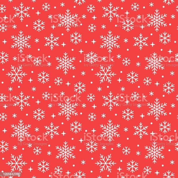 Nahtlose Muster Mit Weißen Schneeflocken Auf Rotem Grund Flache Linie Schneit Symbole Wiederholen Sie Die Niedliche Schneeflocken Tapete Schöne Element Für Weihnachten Banner Einwickeln Neue Jahr Traditionelle Ornament Stock Vektor Art und mehr Bilder von Abstrakt