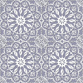 seamless pattern with white snowflakes on a gray background