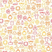 Seamless pattern with woman clothes