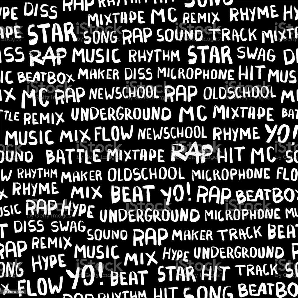 Nahtlose Muster Mit Worten Zum Thema Rapper Stock Vektor Art und ...