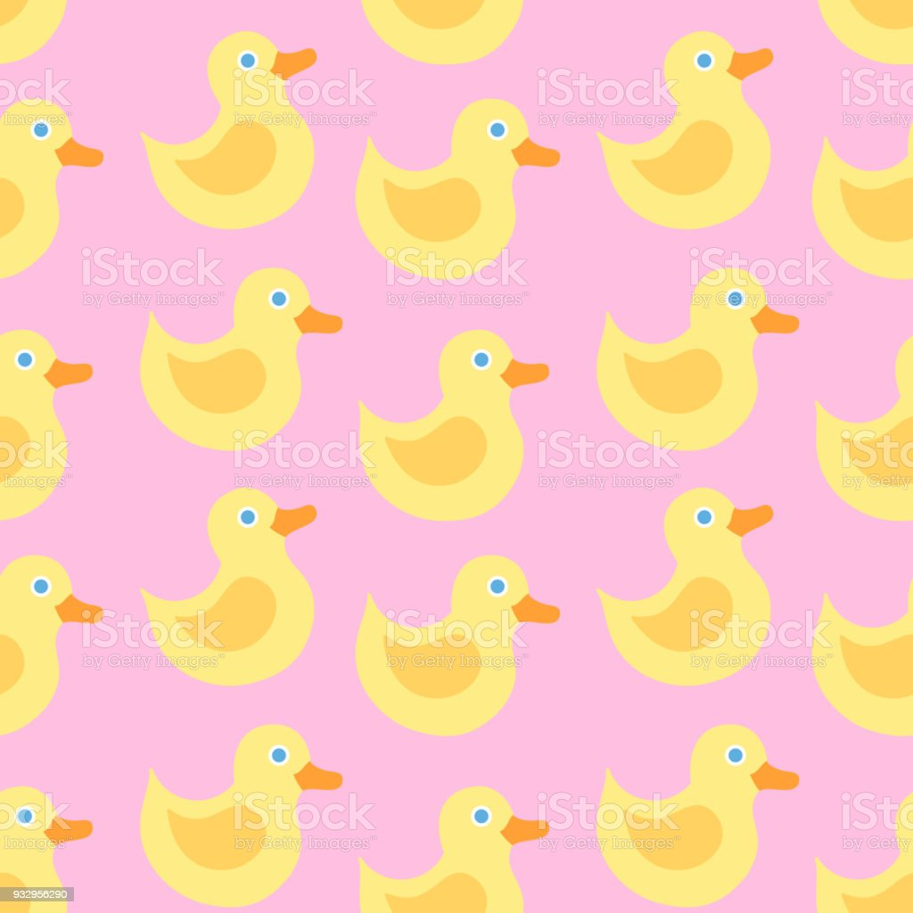 Seamless Pattern With Yellow Duck Stock Vector Art & More Images of ...