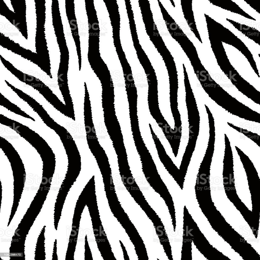Seamless pattern with zebra fur print. Vector wallpaper. Animal skin texture.