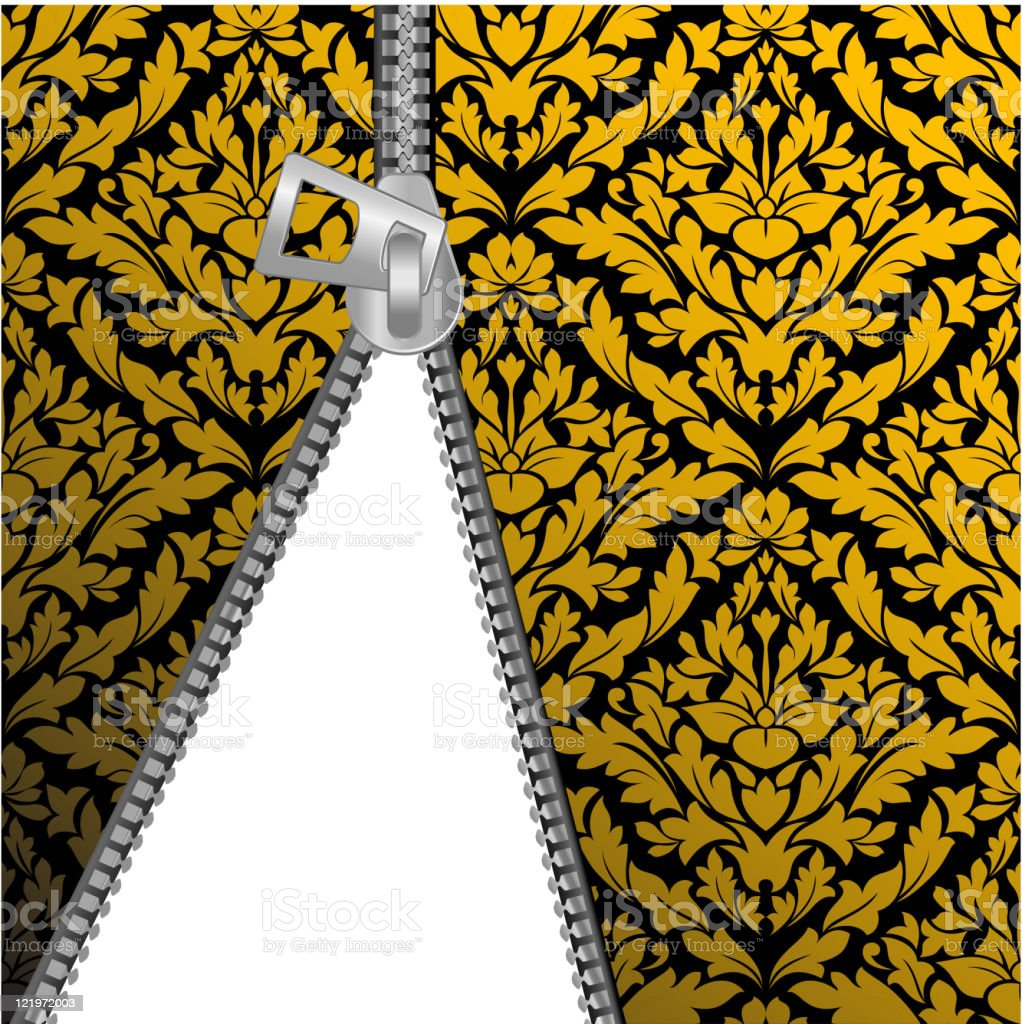 Seamless pattern with zipper royalty-free stock vector art