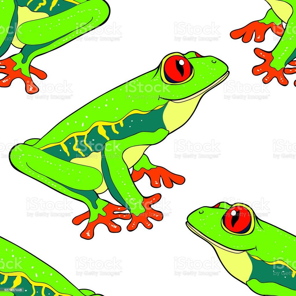 Ilustración de Patrón Transparente Leñosa Es Ojos Rojos Ilustración ...