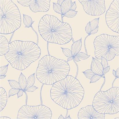 Seamless Pattern—Blue Lotus