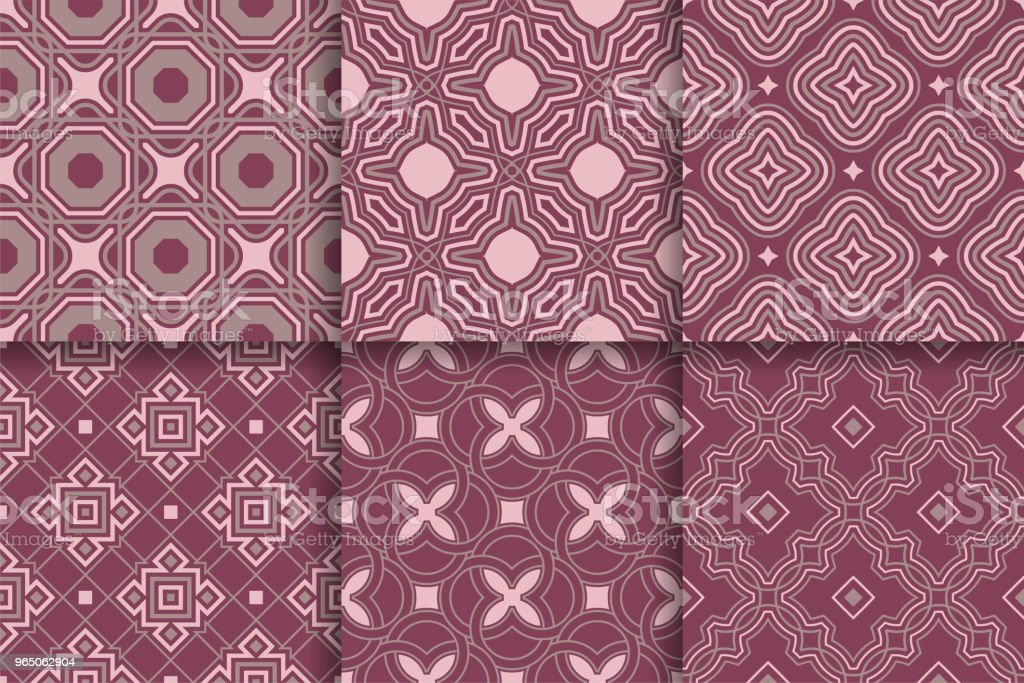 Seamless patterns from geometric shapes. Set of colored backgrounds royalty-free seamless patterns from geometric shapes set of colored backgrounds stock vector art & more images of abstract