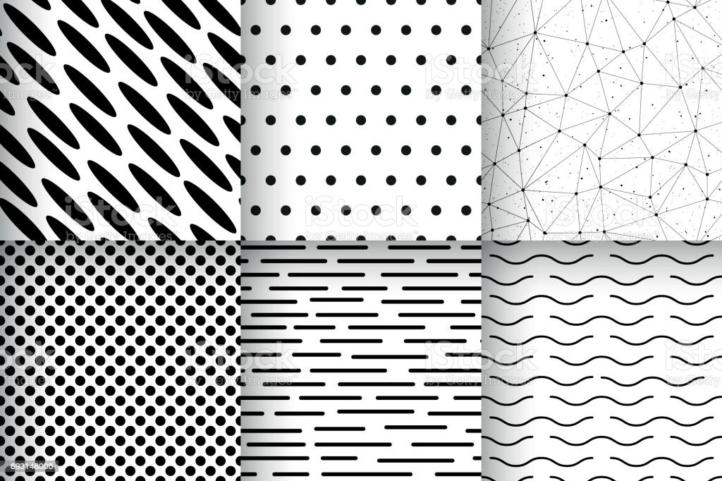 Ilustración de Sin Costura Patrones Geométricos Vectores Minimalista ...
