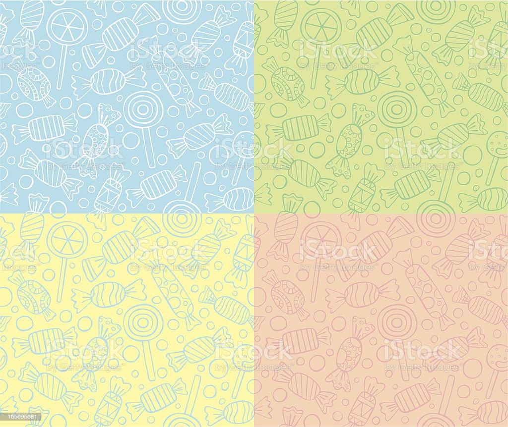 Bezszwowe wzory cukierki lub lizaki - Grafika wektorowa royalty-free (Bez ludzi)