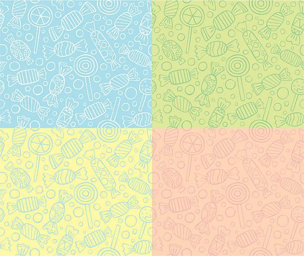 bezszwowe wzory cukierki lub lizaki - holiday background stock illustrations