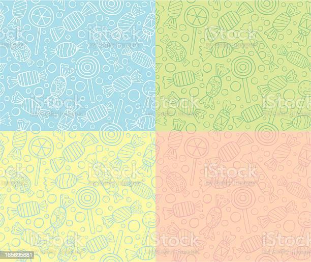 Bezszwowe Wzory Cukierki Lub Lizaki - Stockowe grafiki wektorowe i więcej obrazów Bez ludzi