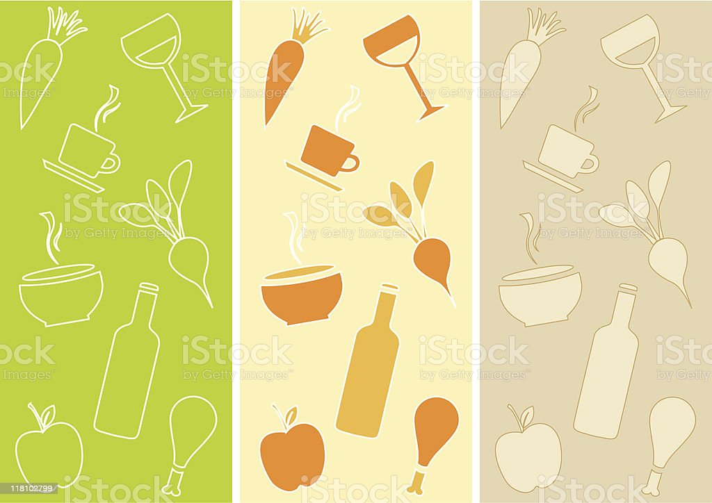 Seamless Patterns: Restaurant Theme royalty-free stock vector art
