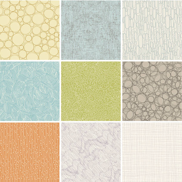 seamless patterns set - part of a series stock illustrations, clip art, cartoons, & icons