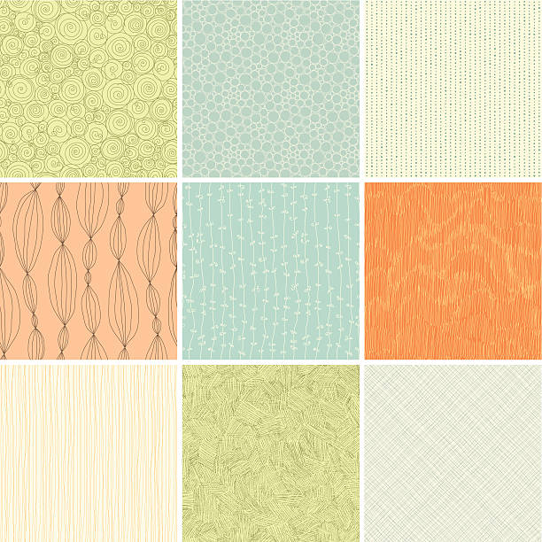 seamless patterns - part of a series stock illustrations, clip art, cartoons, & icons