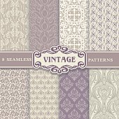 Seamless Patterns. Vintage Set.