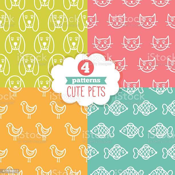 Seamless patterns with cute pets dog cat bird fish vector id473789212?b=1&k=6&m=473789212&s=612x612&h=lfnzdi7ia6ncvzidct1a wlm2ufcfnd3nigttqliacg=