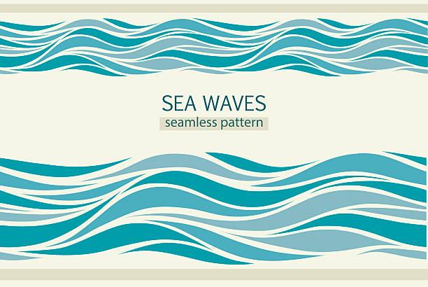 ilustrações de stock, clip art, desenhos animados e ícones de padrões sem costura com ondas estilizadas - river