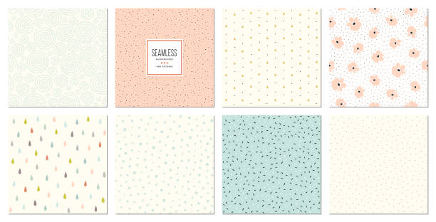 illustrations, cliparts, dessins animés et icônes de patterns_05 sans couture - ton pastel