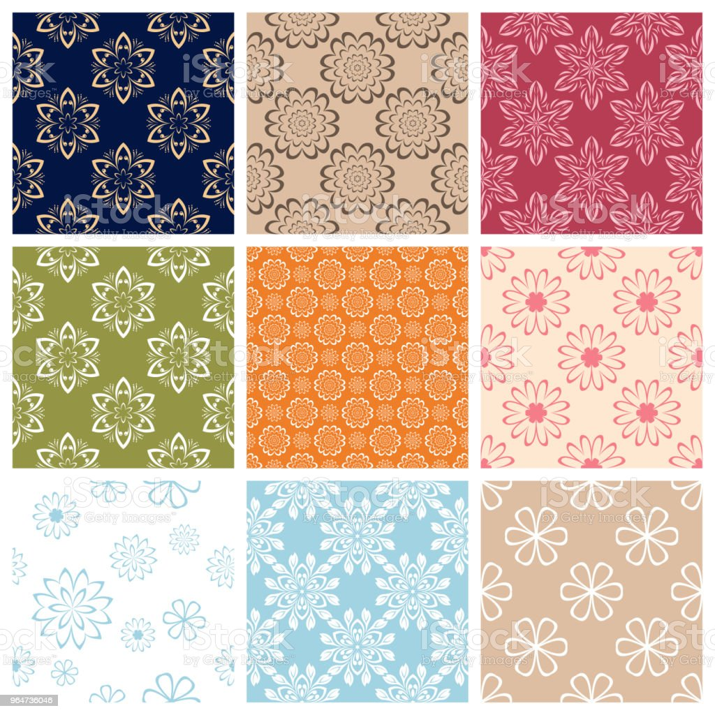 Seamless pattern.Set of Colored floral background royalty-free seamless patternset of colored floral background stock vector art & more images of abstract