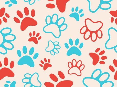 Seamless Paw Print Background