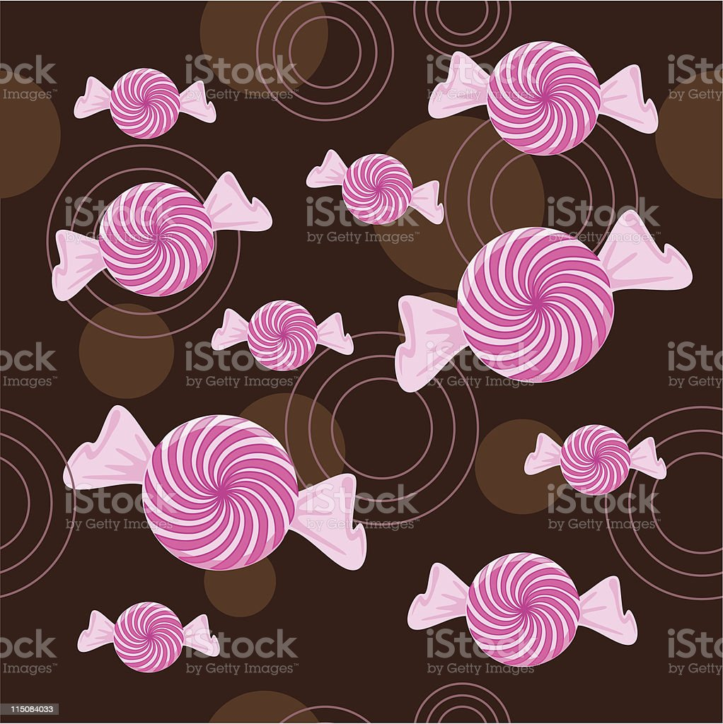 Seamless Peppermint Candy Background royalty-free stock vector art