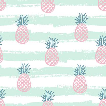 Seamless pineapple pattern. Vector