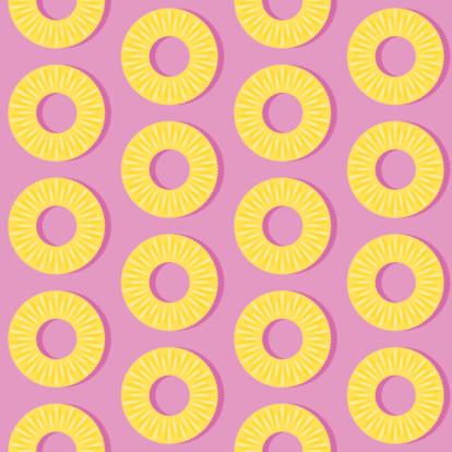 Seamless Pineapple Slice Pattern